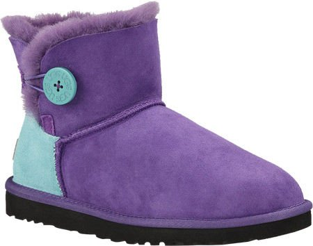 ugg mini bailey button neon