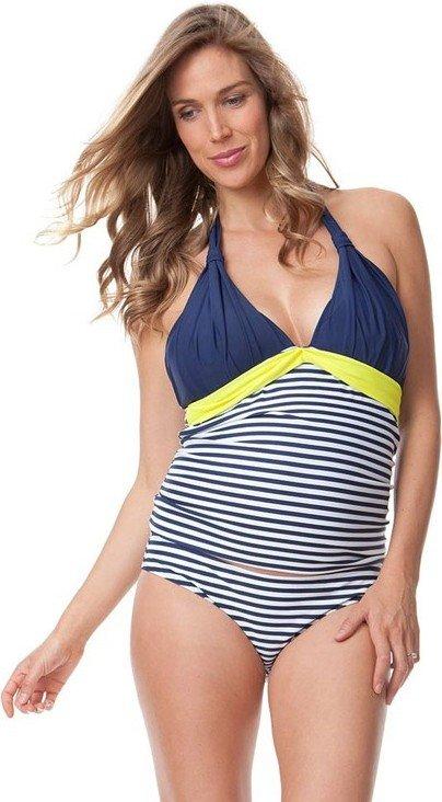 Seraphine zwangerschapstankini Marbella striped-neon